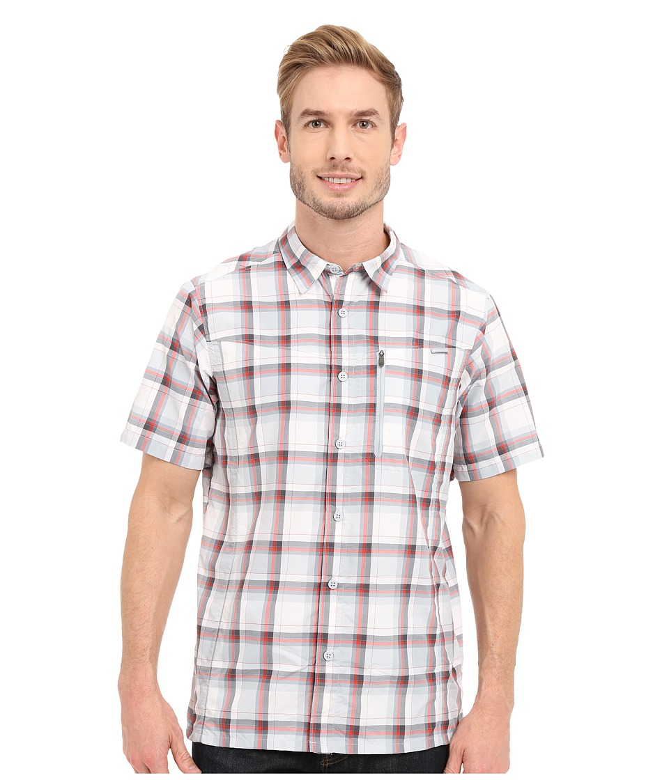 Columbia - Silver Ridge Plaid S/S Shirt (Super Sonic Plaid) Men's Short Sleeve Button Up