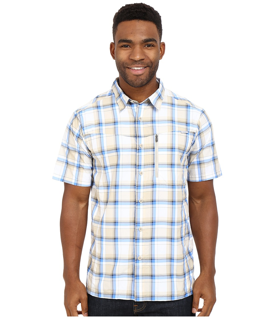 Columbia - Silver Ridge Plaid S/S Shirt (Fossil Plaid) Men's Short Sleeve Button Up