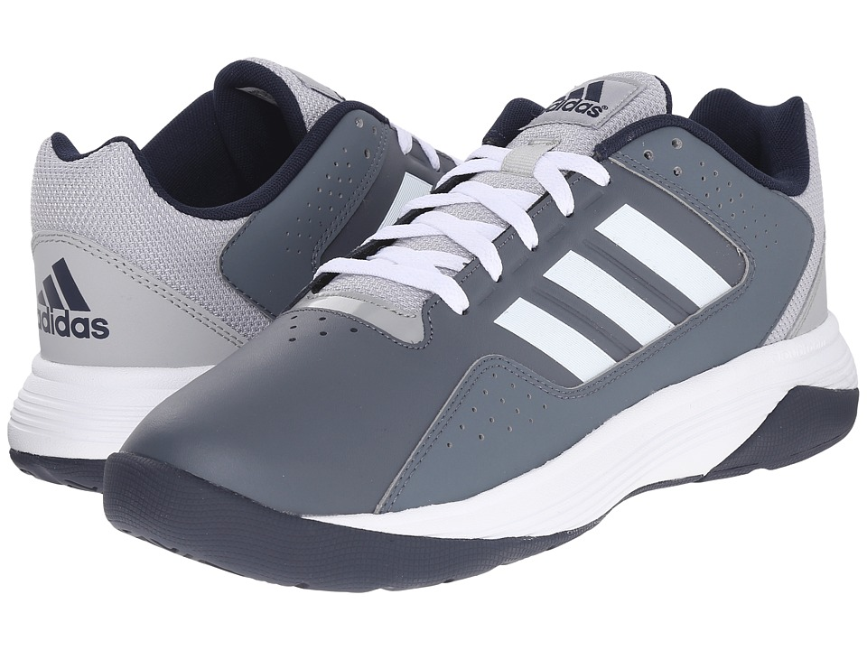 adidas - Cloudfoam Ilation (Lead/White/Collegiate Navy) Men's Basketball Shoes