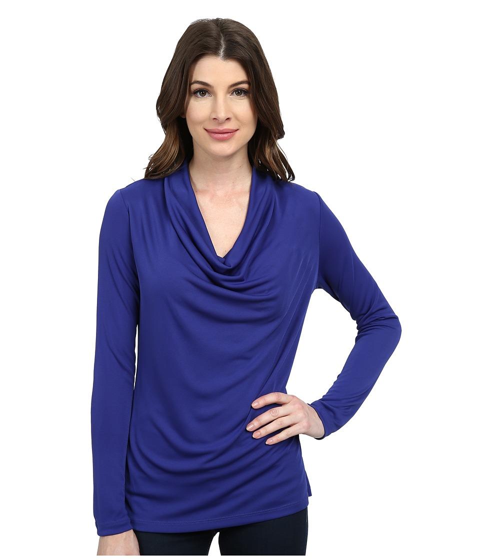 NYDJ - Fit Solution Drape Cowl Tee (Velvet Slipper) Women's Long Sleeve Pullover