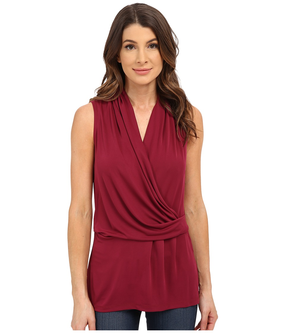 NYDJ - Fit Solution Sleeveless Drape Cowl Tee (Azalea) Women's T Shirt