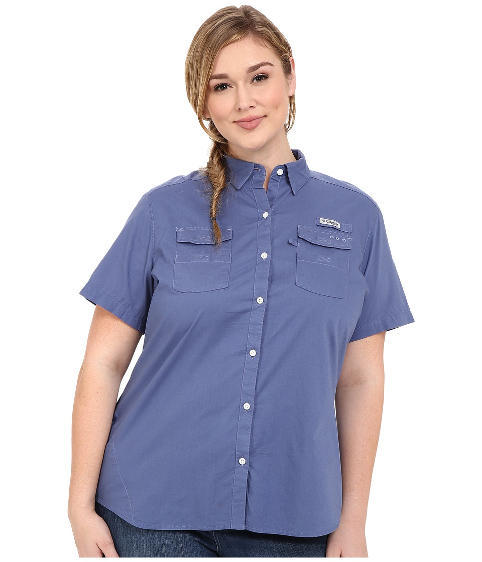 Columbia - Plus Size Bonehead II S/S Shirt (Bluebell) Women's Short Sleeve Button Up