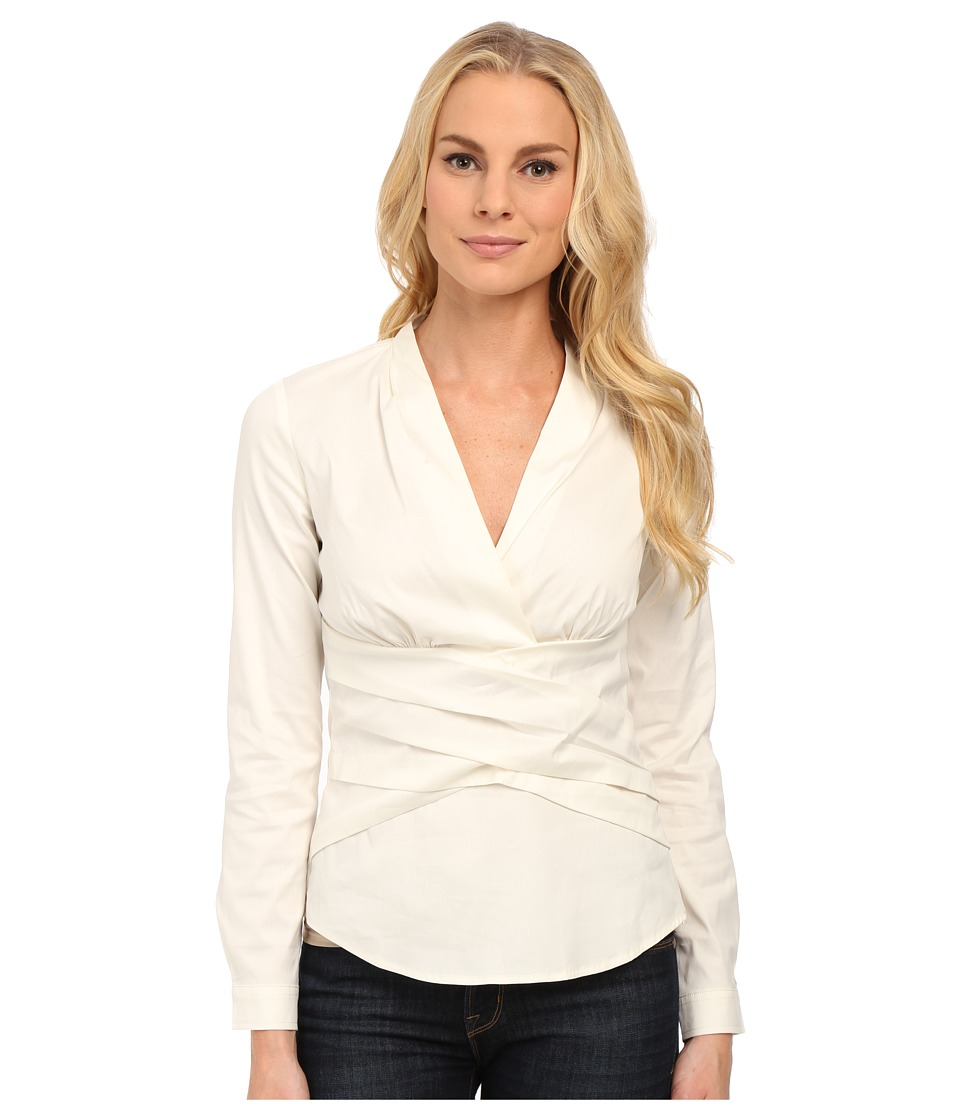 NYDJ - Fit Solution Wrap Top (Winter White) Women's Clothing