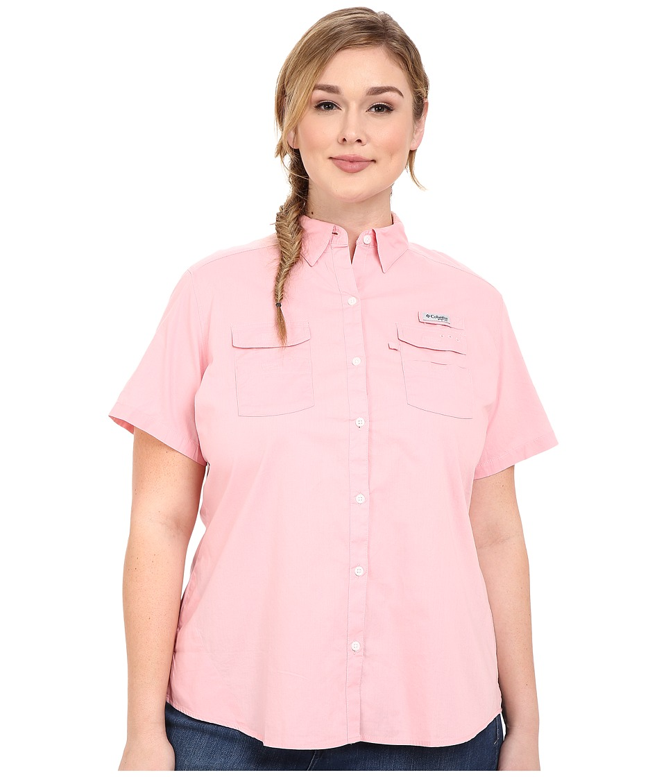 Columbia - Plus Size Bonehead II S/S Shirt (Rosewater) Women's Short Sleeve Button Up