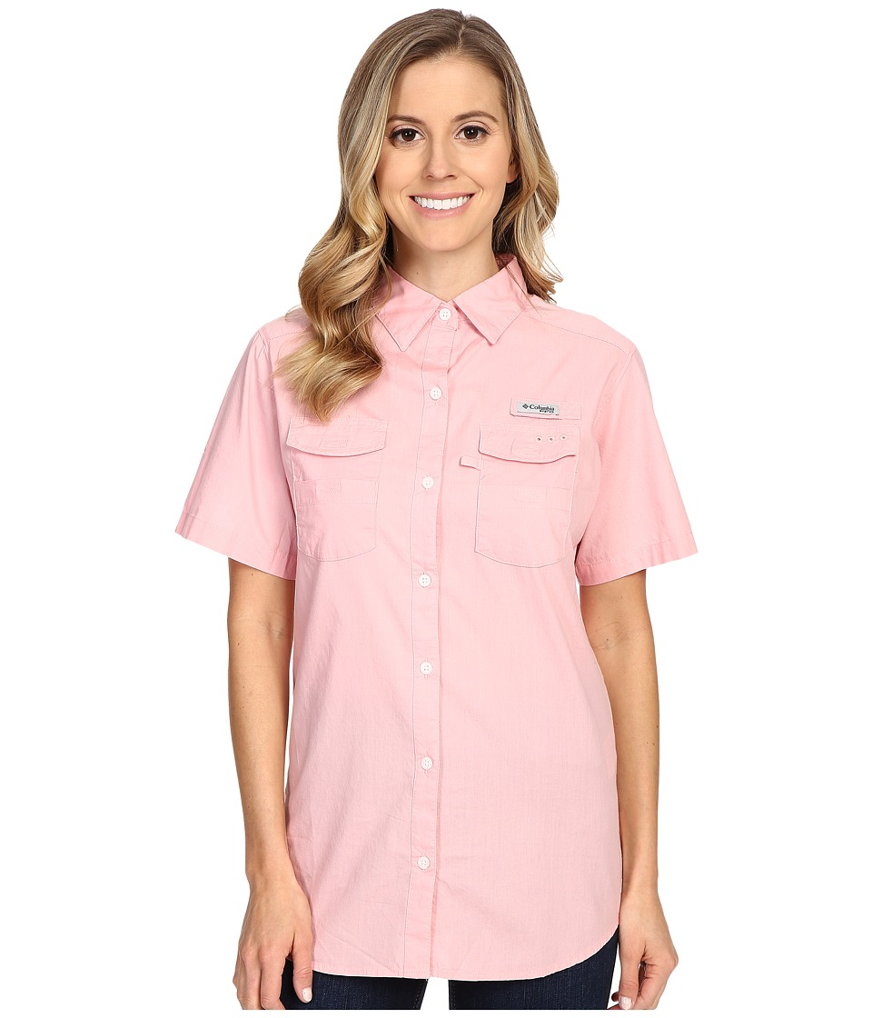 Columbia - Bonehead II S/S Shirt (Rosewater) Women's Short Sleeve Button Up