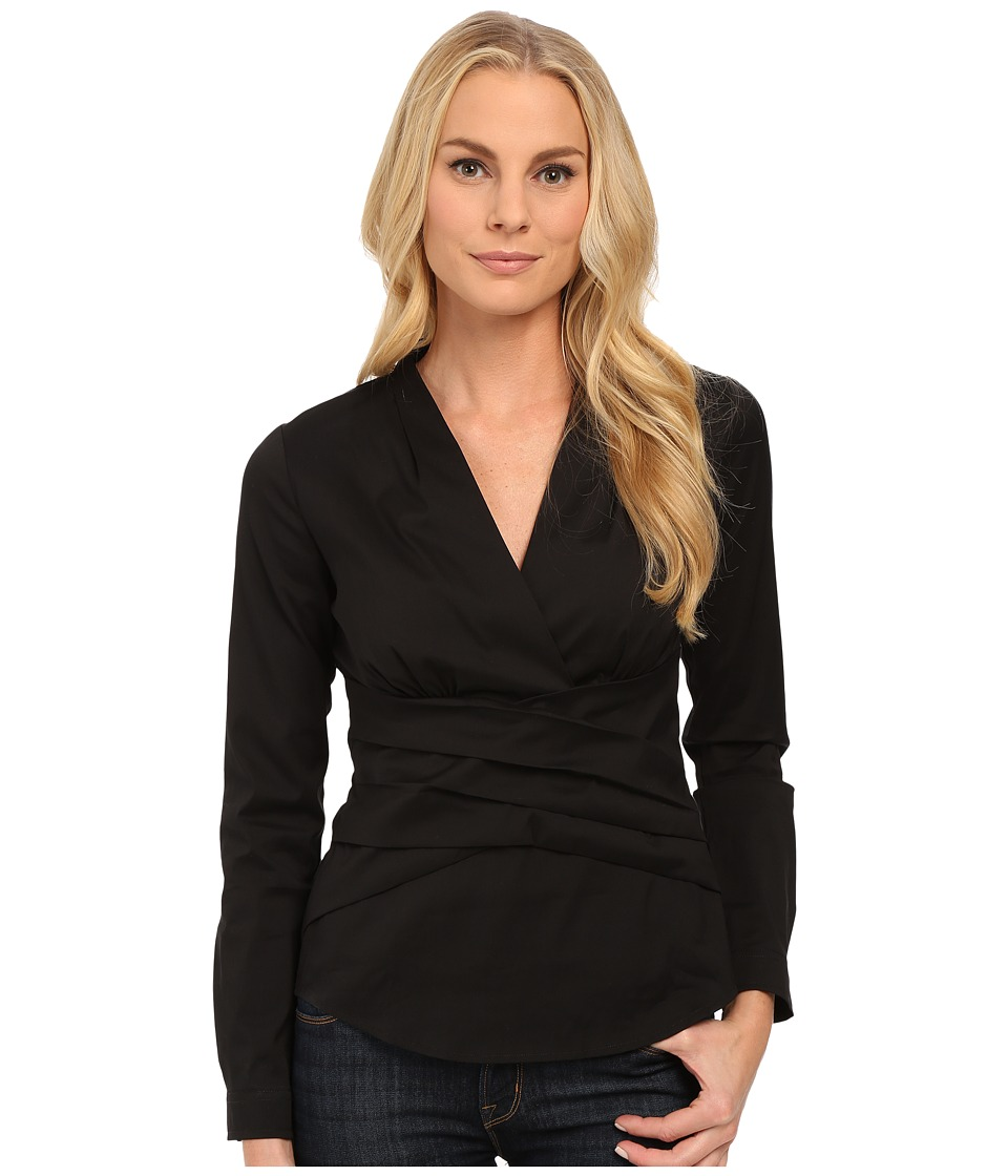 NYDJ - Fit Solution Wrap Top (Black) Women's Clothing