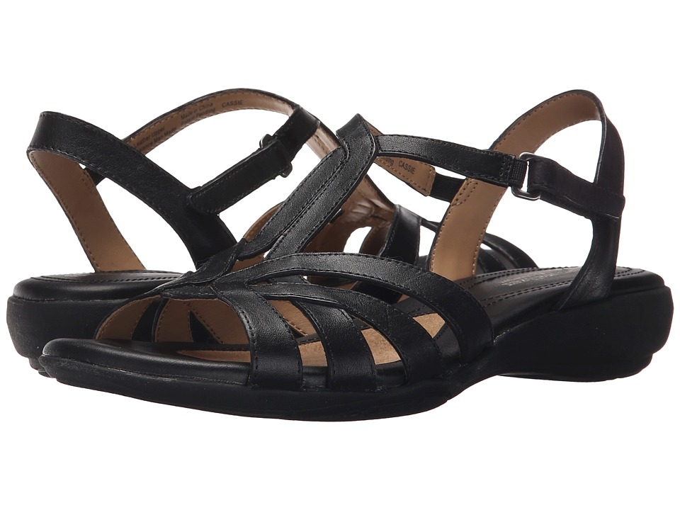 Naturalizer - Cassie (Black Leather) Women's Sandals