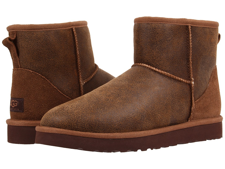 UGG - Classic Mini Bomber (Bomber Jacket Chestnut) Men's Pull-on Boots