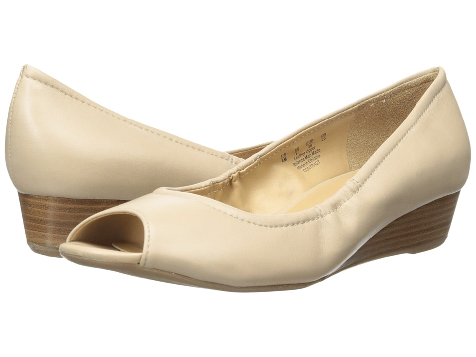 Naturalizer - Contrast (Tender Taupe Leather) Women's Wedge Shoes