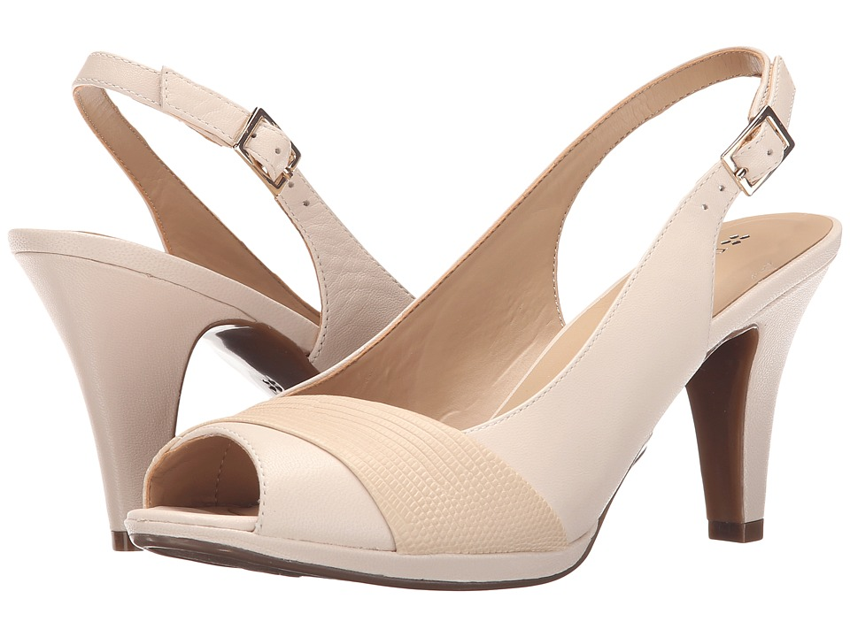 Naturalizer - Indeed (Ivory Leather/Printed Snake) Women