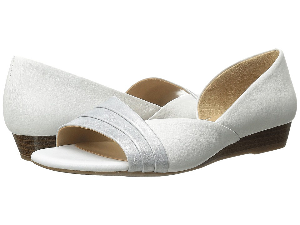 Naturalizer - Jenah (White Leather/Silver Metallic) Women