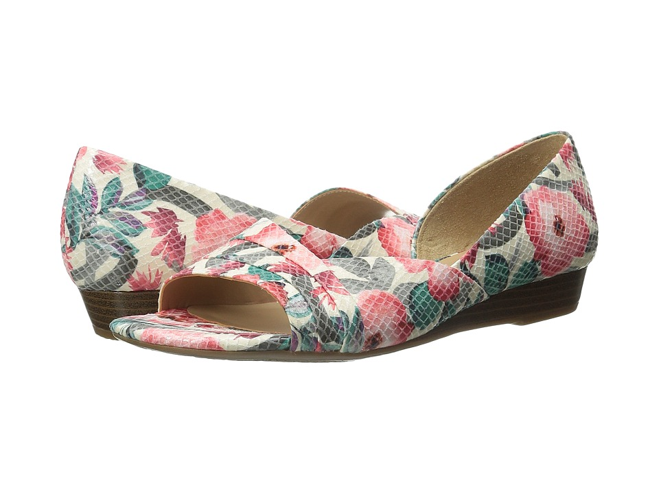 Naturalizer - Jenah (Cream Multi Floral Glossy Printed Snake) Women