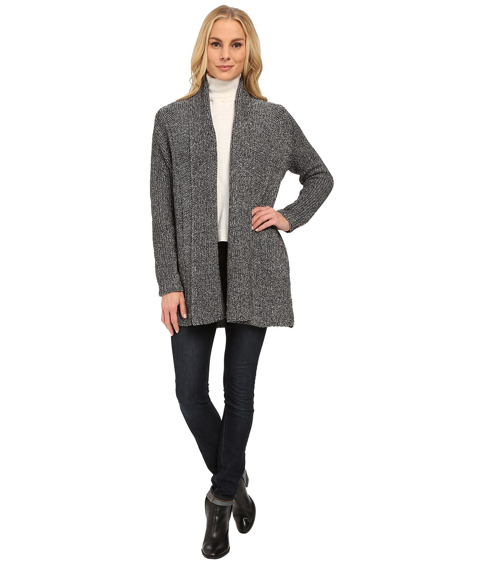 NYDJ - Sparkle Car Coat (Charcoal Mix) Women's Sweater
