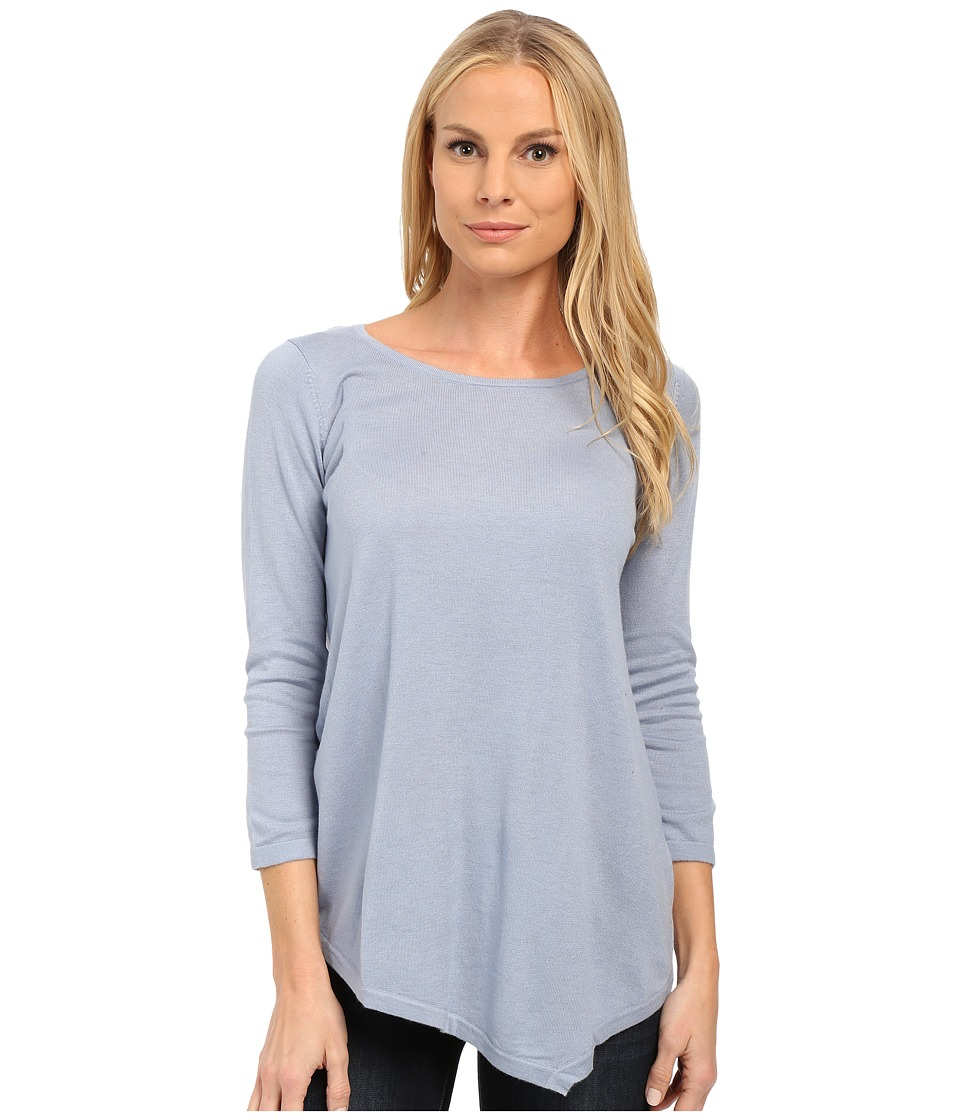 NYDJ - Leann Asymmetric Hem Sweater (Dusty Slate) Women's Sweater