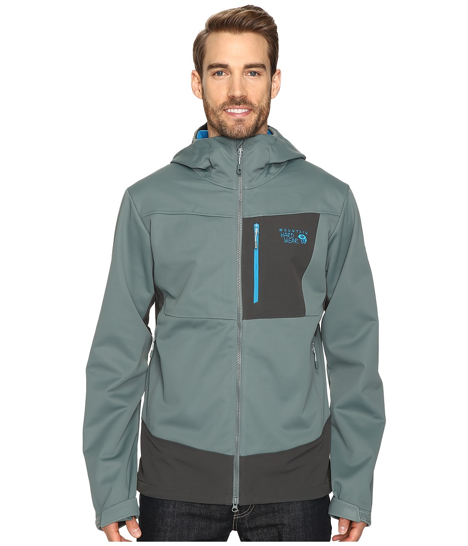 Mountain Hardwear - Dragon Hooded Jacket (Thunderhead Grey) Men's Jacket