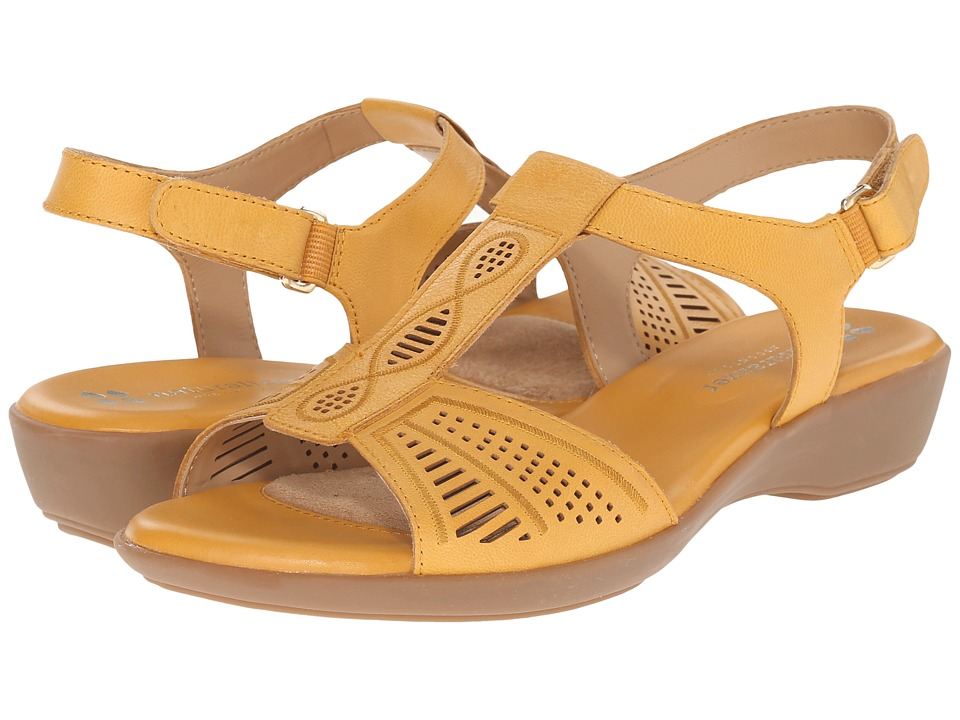 Naturalizer - Network (Saffron Yellow Leather) Women's Sling Back Shoes