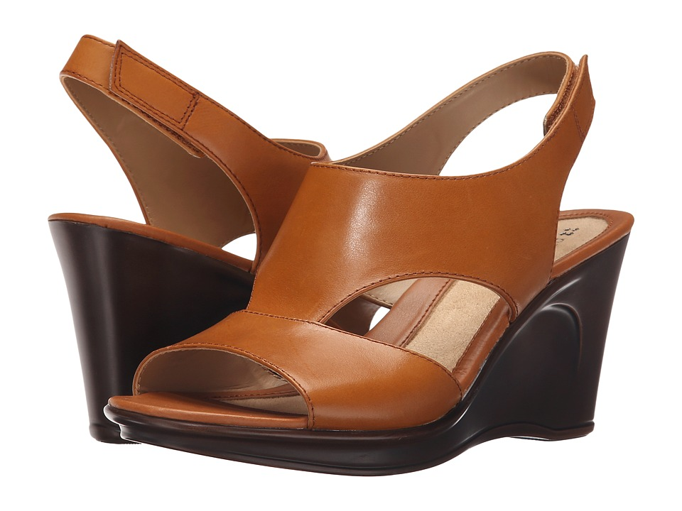 Naturalizer - Orrin (Mid Brown Leather) Women's Wedge Shoes