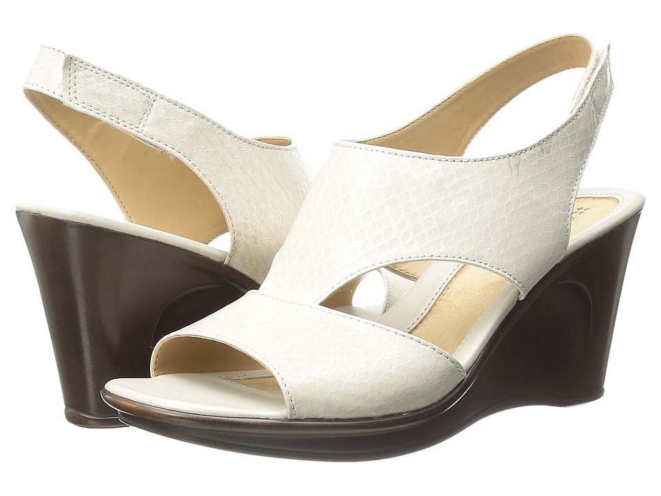 Naturalizer - Orrin (Ivory Glossy Printed Snake) Women's Wedge Shoes