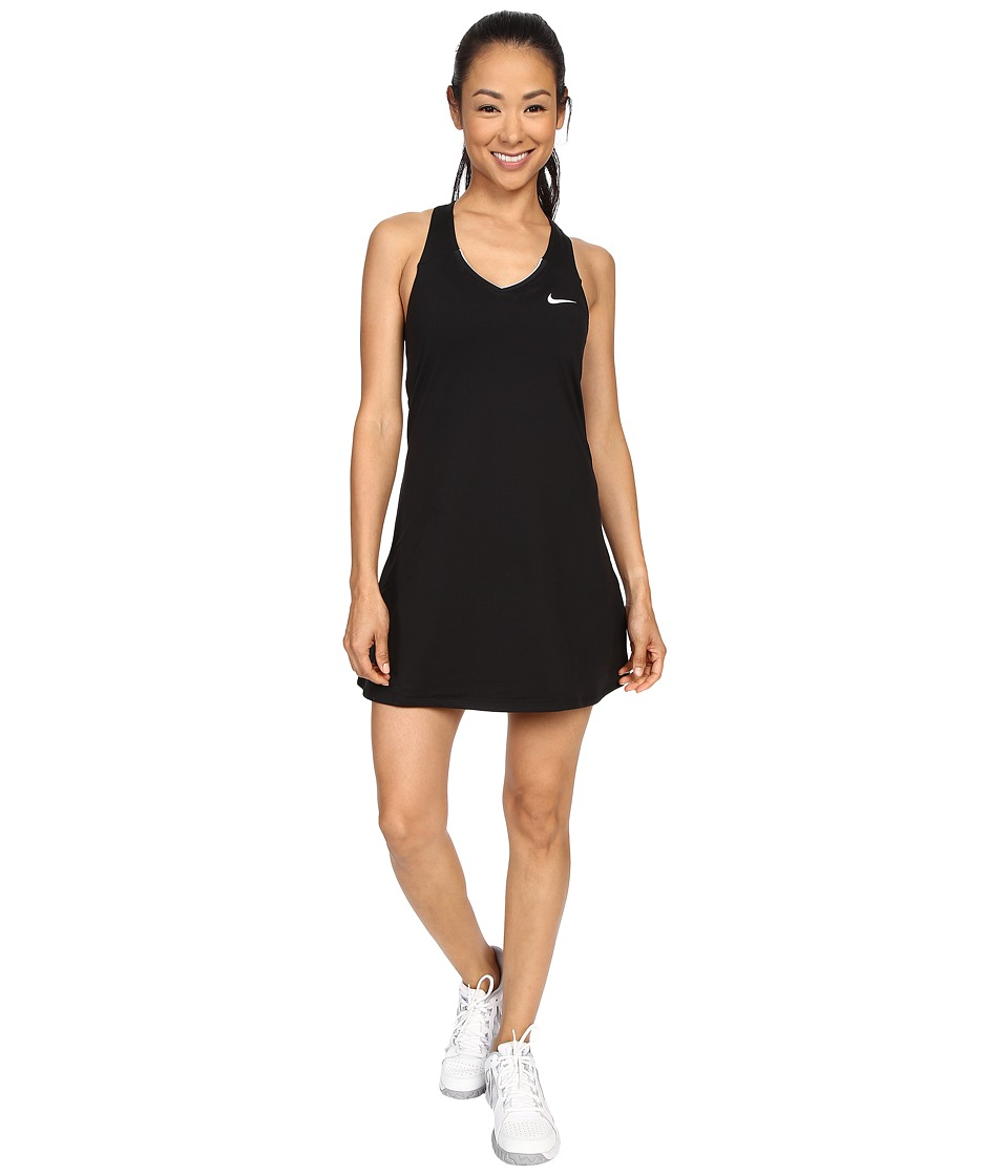 Nike - Court Pure Tennis Dress (Black/White) Women's Dress