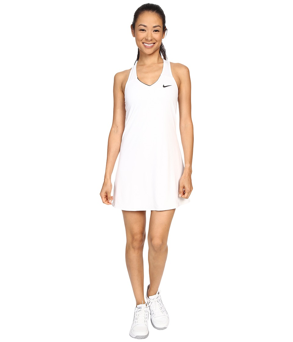 Nike - Court Pure Tennis Dress (White/Black) Women's Dress
