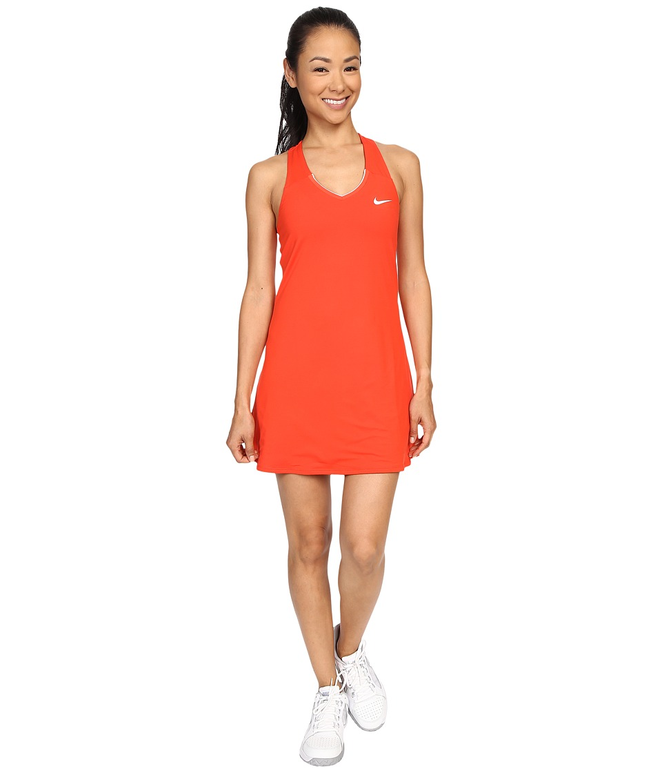 Nike - Court Pure Tennis Dress (Light Crimson/White) Women's Dress
