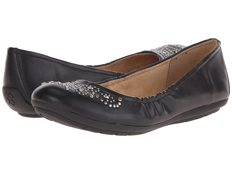 Naturalizer - Unison (Black Smooth) Women's Flat Shoes