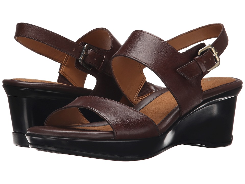 Naturalizer - Vibrant (Brown Leather) Women's Sling Back Shoes