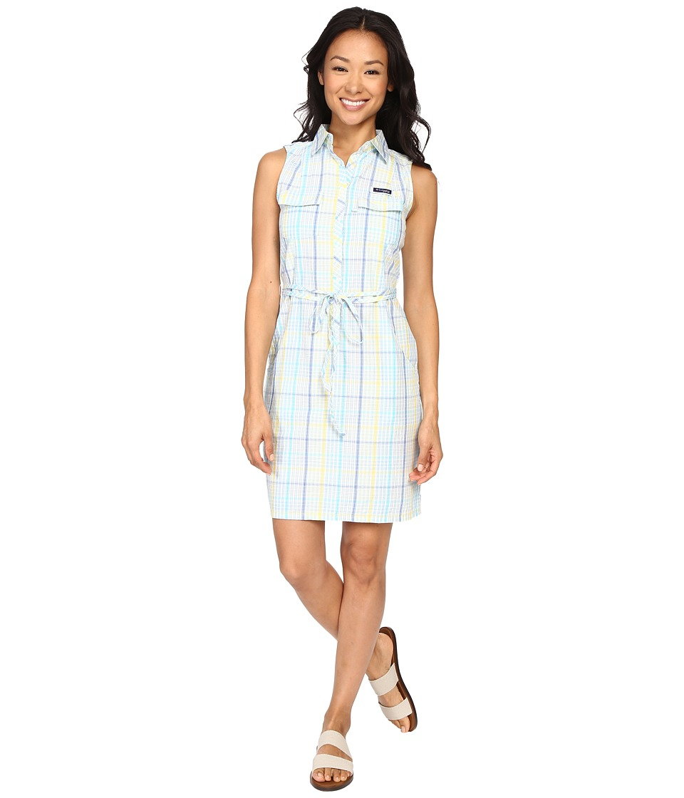 Columbia - Super Bonehead II Sleeveless Dress (Stormy Blue Plaid) Women's Dress