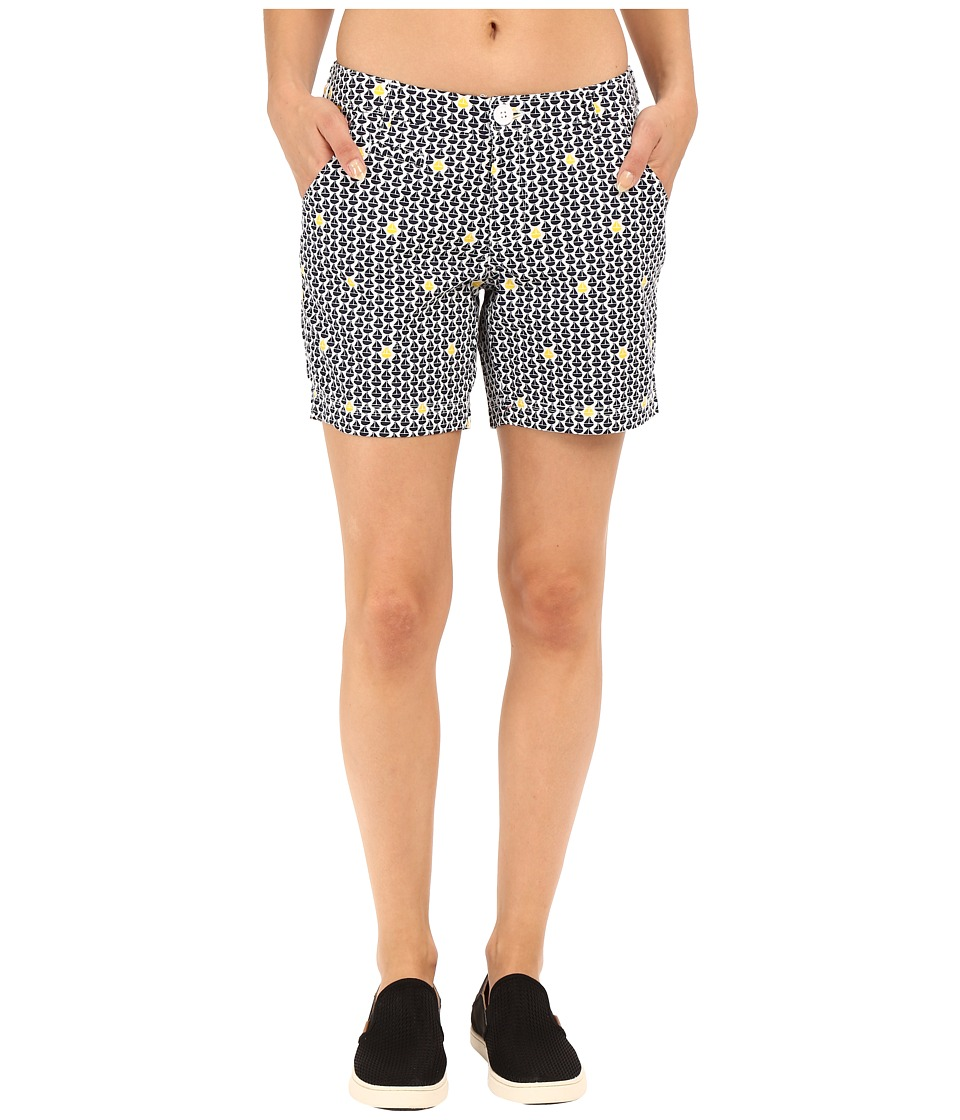 Columbia - Super Bonehead II Short (Collegiate Navy Sailboats Print) Women's Shorts