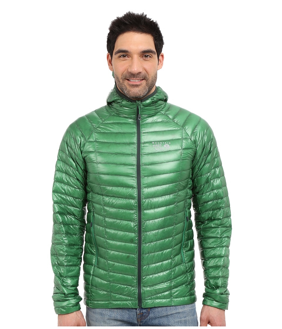 Mountain Hardwear - Ghost Whisperer Hooded Down Jacket (Serpent Green) Men's Coat
