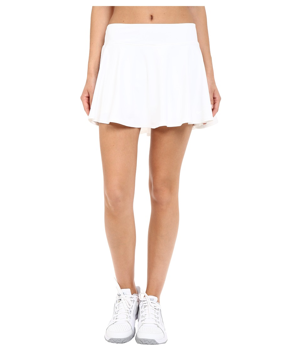 Nike - Court Baseline Tennis Skirt (White/White) Women's Skort
