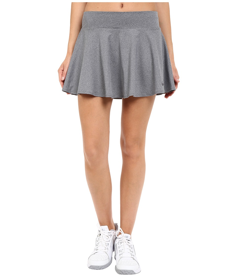 Nike Court Baseline Tennis Skirt (Dark Grey Heather/Dark Grey) Women