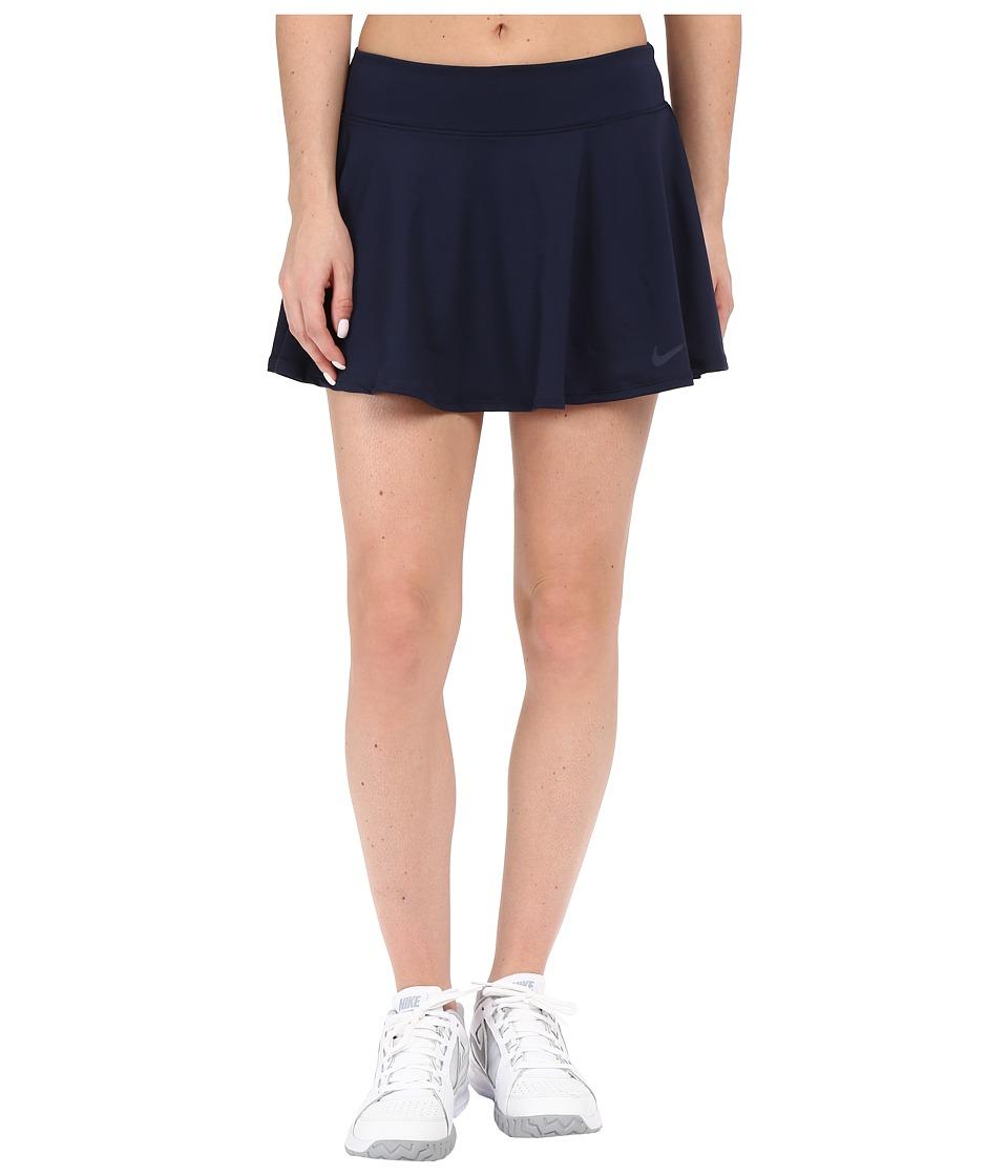 Nike Court Baseline Tennis Skirt (Obsidian/Obsidian) Women