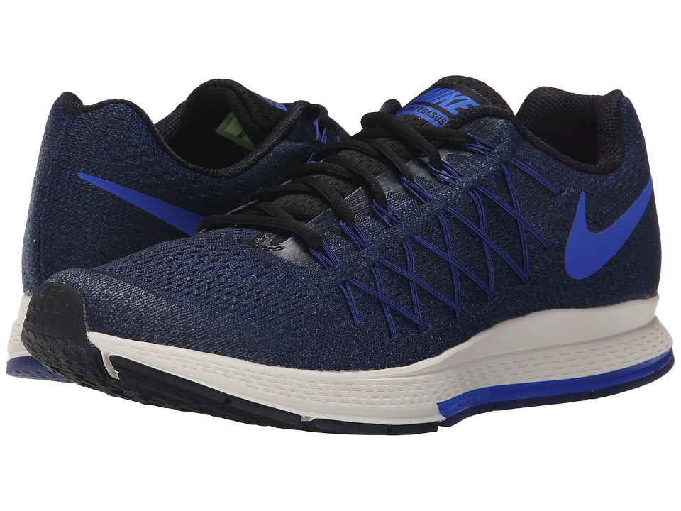 Nike - Air Zoom Pegasus 32 (Black/Deep Royal Blue/Sail/Racer Blue) Men's Running Shoes