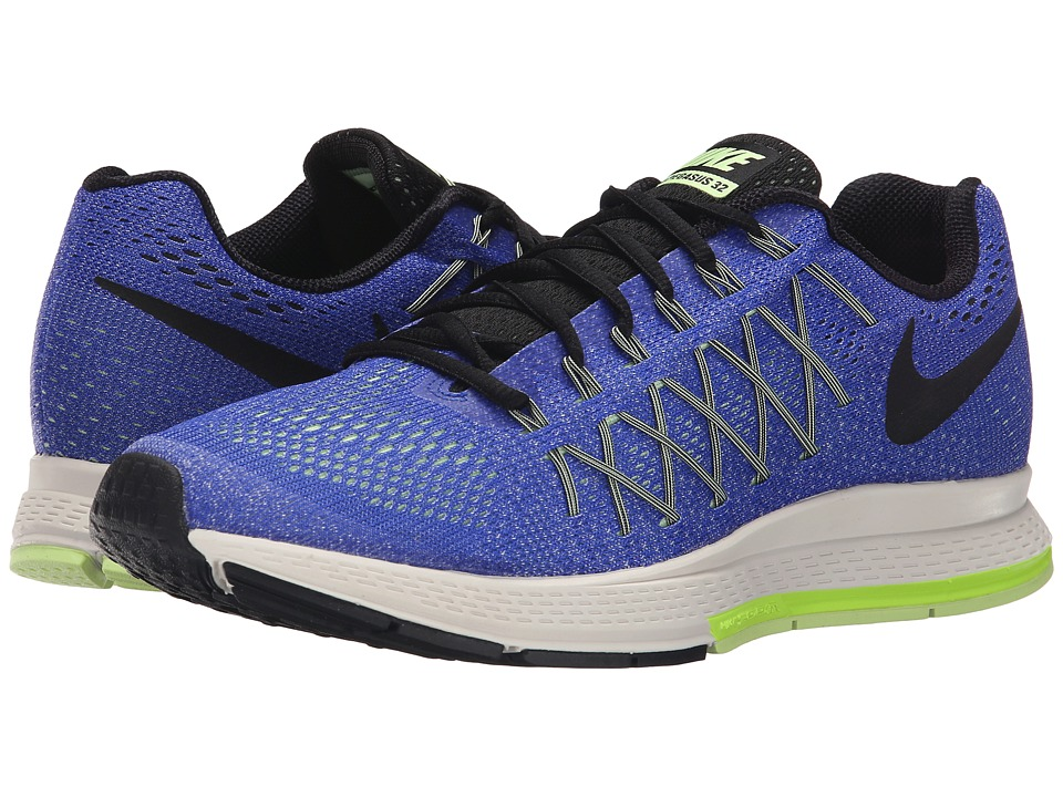 Nike - Air Zoom Pegasus 32 (Racer Blue/Volt/Barely Volt/Black) Men's Running Shoes