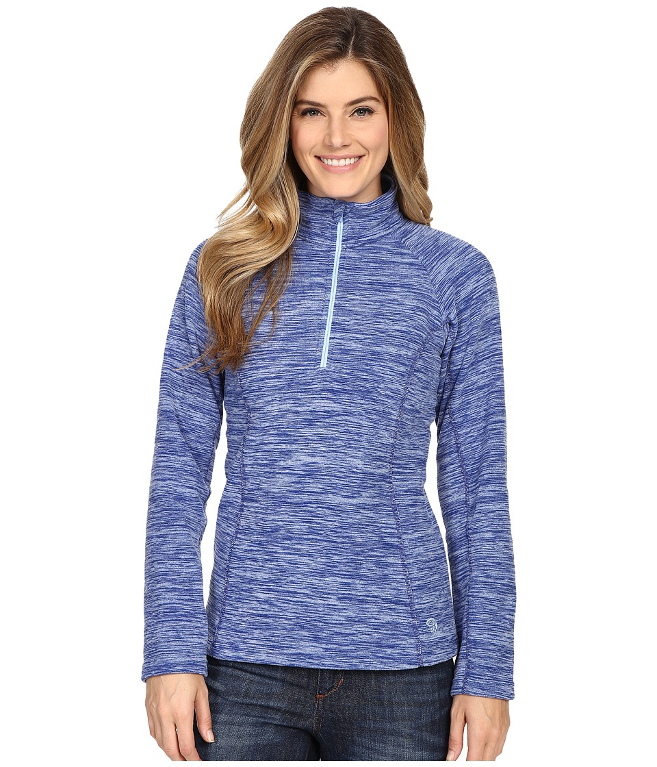 Mountain Hardwear - Snowpass Fleece Zip Tee (Heather Dynasty) Women's Long Sleeve Pullover