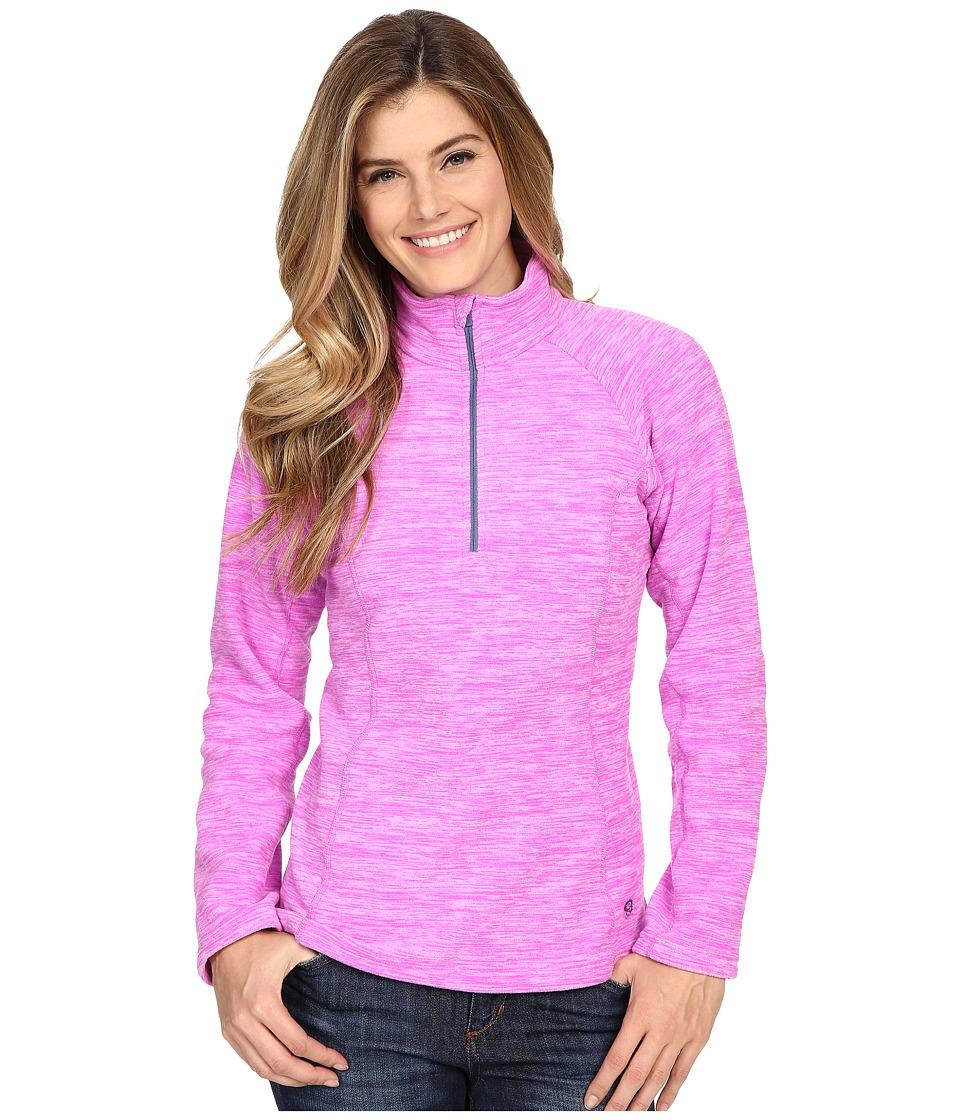 Mountain Hardwear - Snowpass Fleece Zip Tee (Heather Foxglove) Women's Long Sleeve Pullover