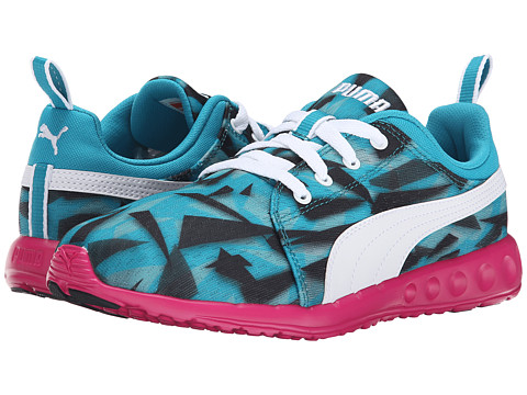 PUMA - Carson Runner Geo Camo (Capri Breeze/White) Women's Shoes