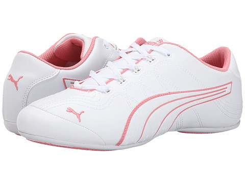 PUMA - Soleil v2 Comfort Fun (White/Salmon Rose) Women's Shoes