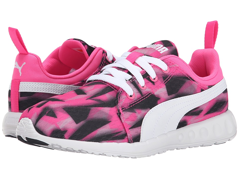 PUMA - Carson Runner Geo Camo (Fluorescent Pink/White) Women's Shoes
