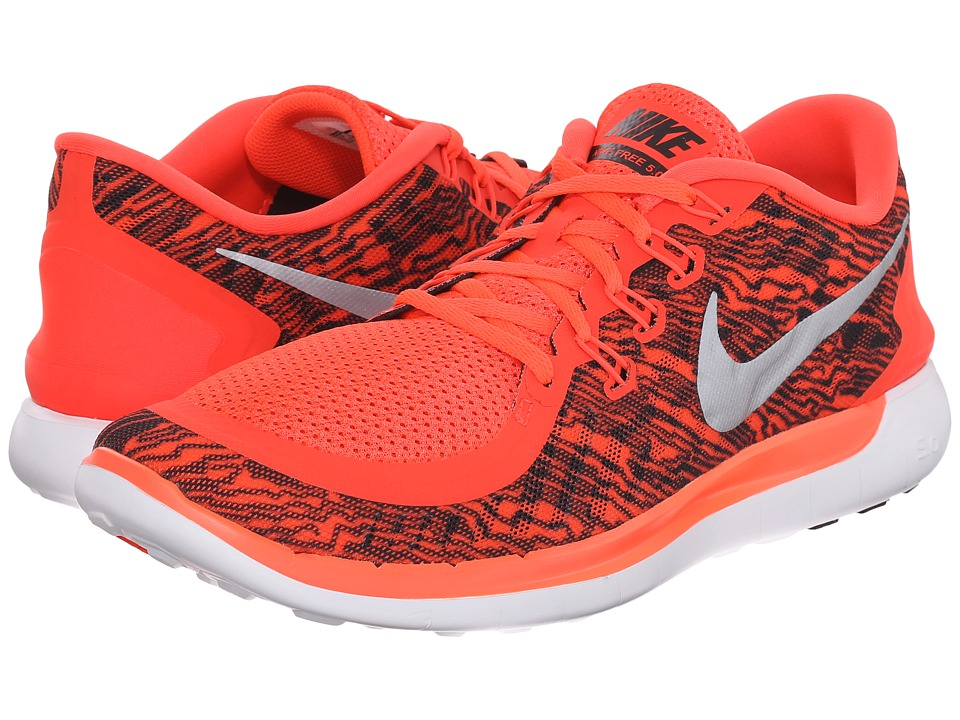 Nike - Free 5.0 Print (Bright Crimson/White/Black) Men's Running Shoes