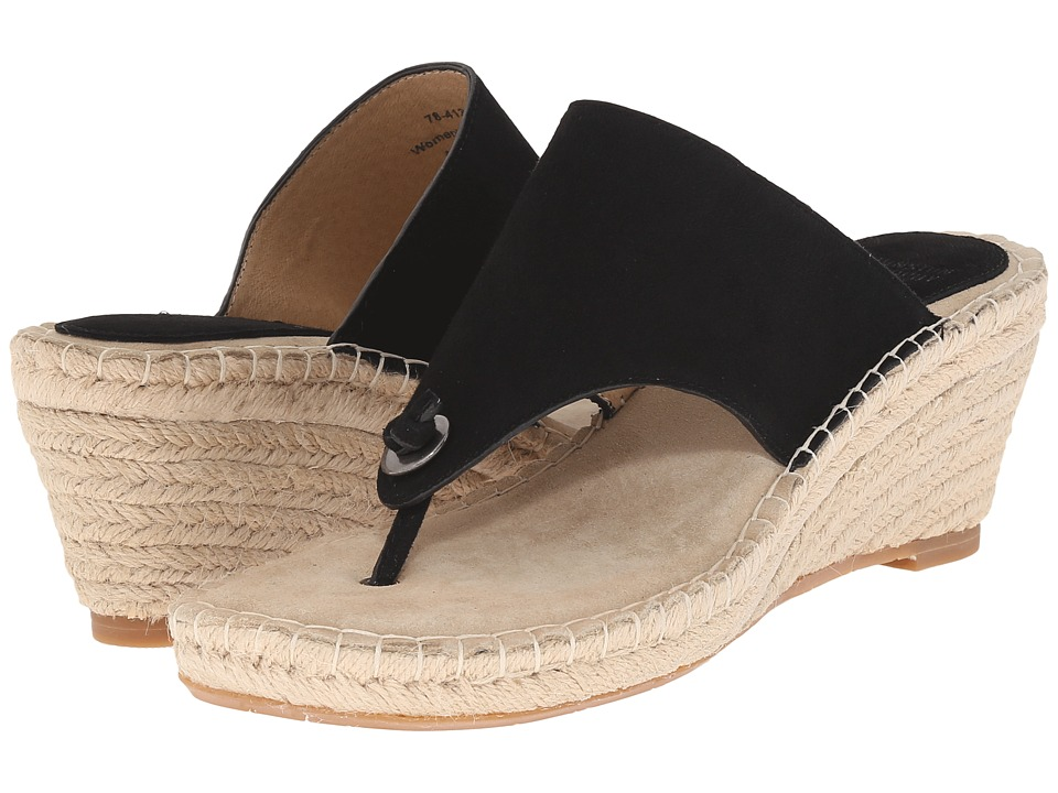 Johnston & Murphy - Ainsley Thong (Black Kid Suede) Women's Sandals