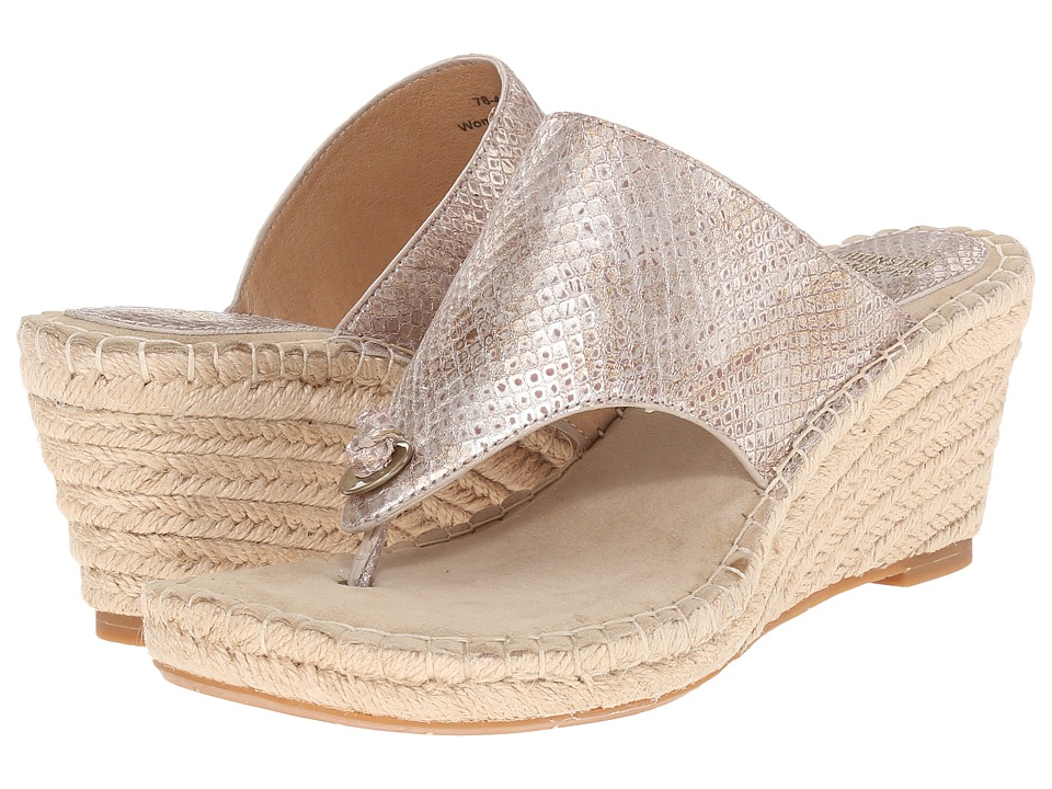 Johnston & Murphy - Ainsley Thong (Champagne Metallic Snake Print) Women's Sandals