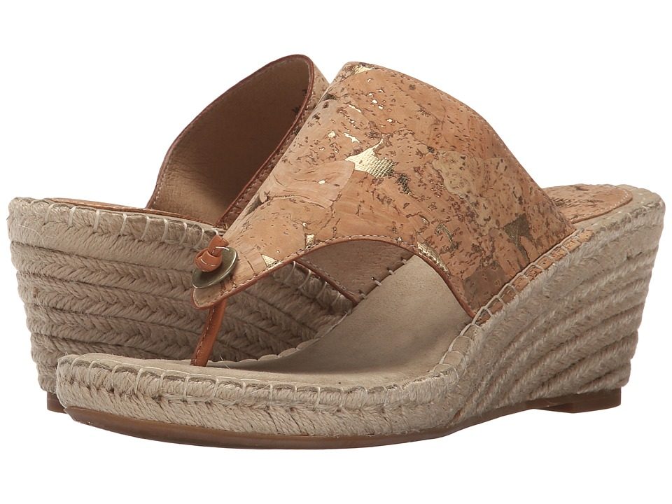 Johnston & Murphy - Ainsley Thong (Natural Cork) Women's Sandals
