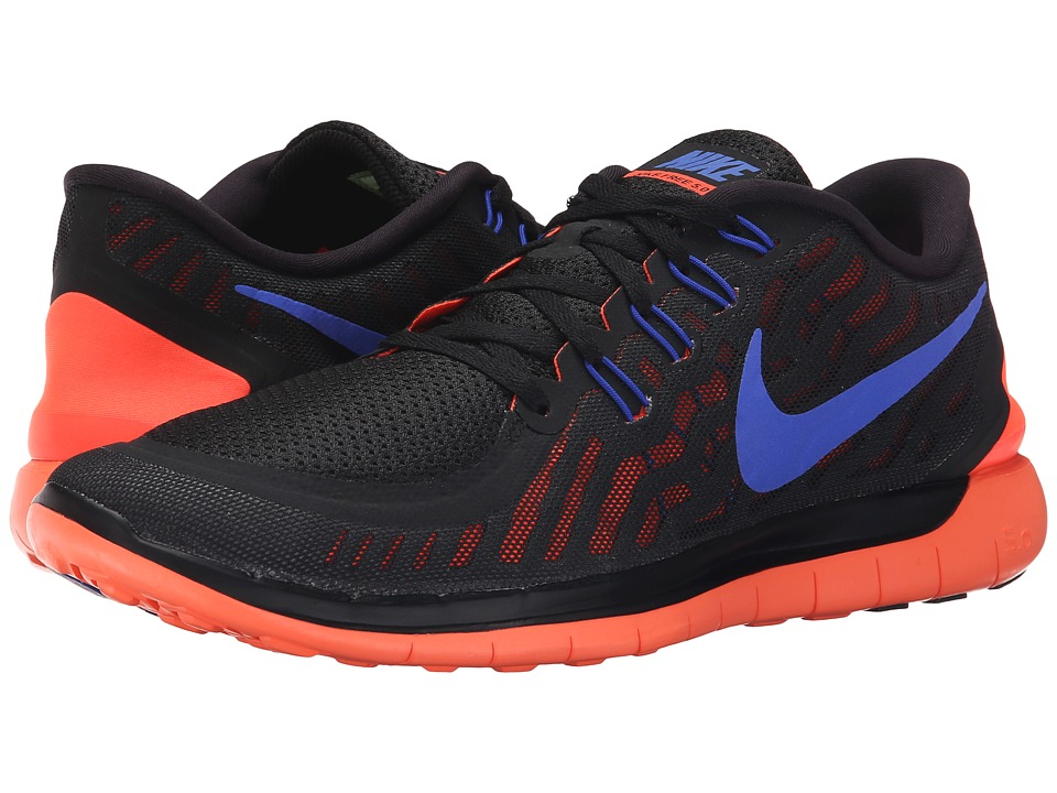 Nike - Free 5.0 (Black/Total Crimson/Dark Grey/Racer Blue) Men's Running Shoes