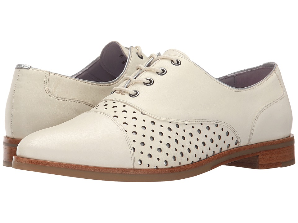 Johnston & Murphy - Charlene (Ivory Soft Italian Calfskin w/ Silver Underlay) Women's Shoes