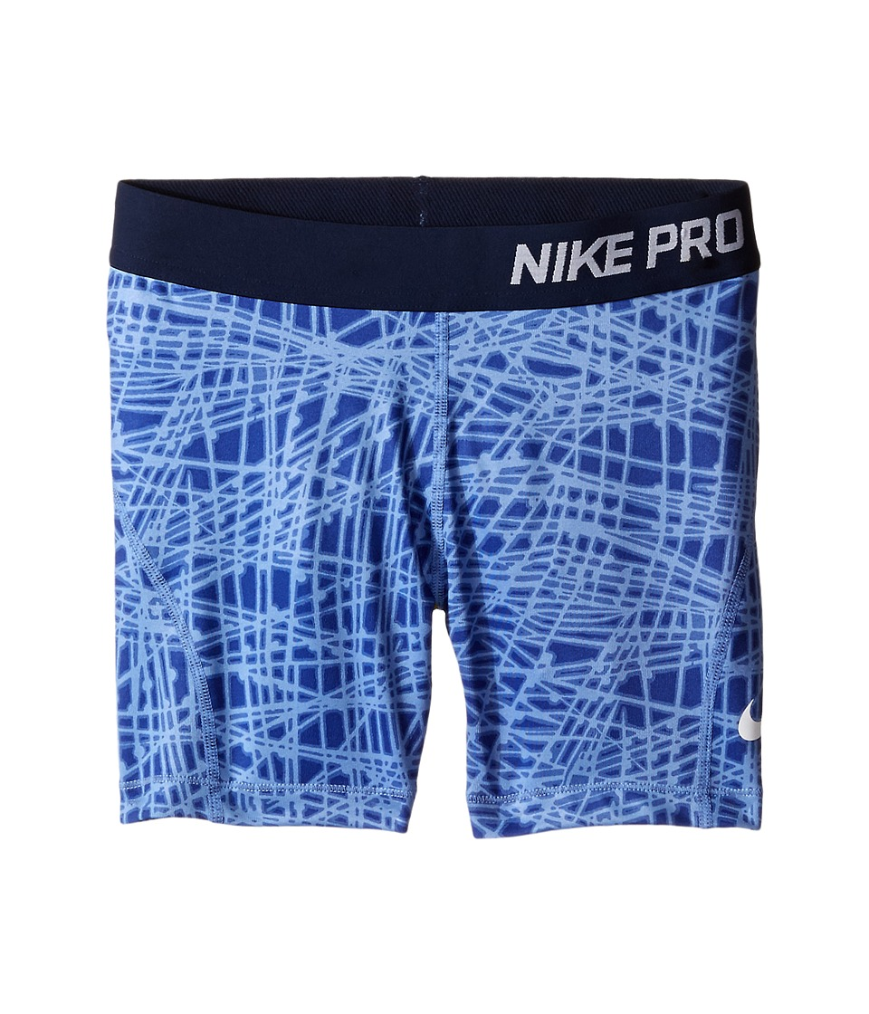 Nike Kids - Pro Hypercool Allover Print Short (Little Kids/Big Kids) (Chalk Blue/Obsidian/White) Girl's Shorts