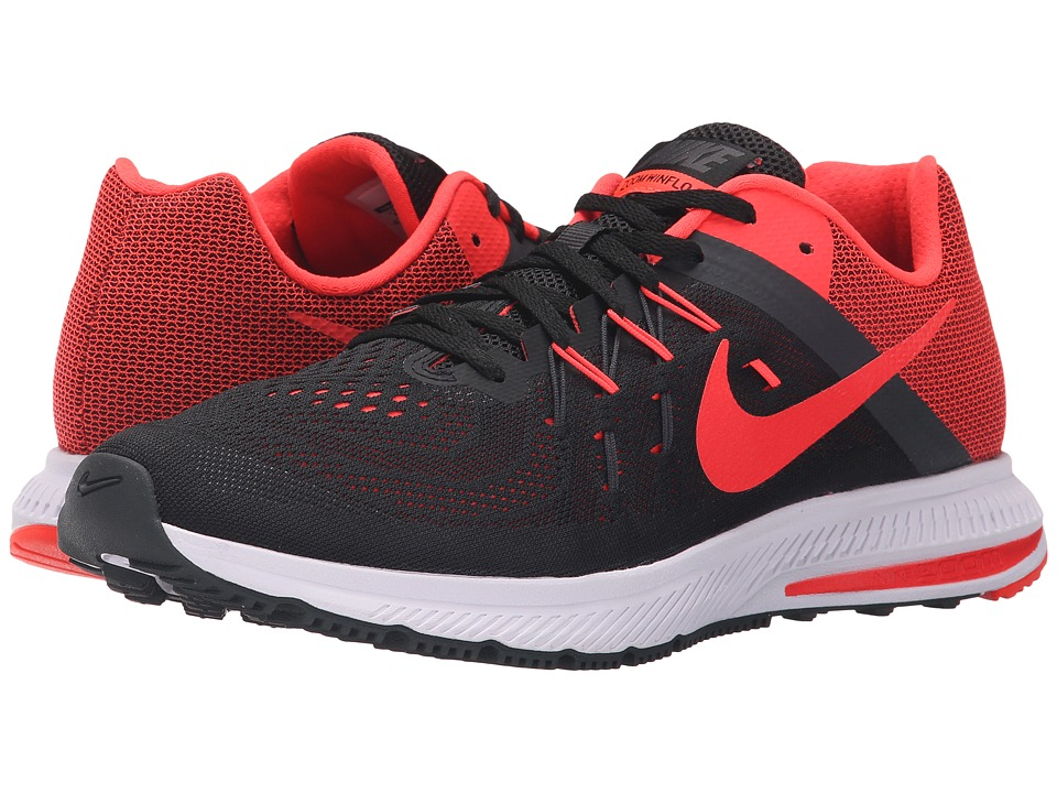 Nike - Zoom Winflo 2 (Black/Anthracite/White/Bright Crimson) Men's Running Shoes