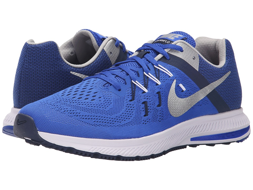 Nike - Zoom Winflo 2 (Racer Blue/Midnight Navy/White/Metallic Silver) Men's Running Shoes