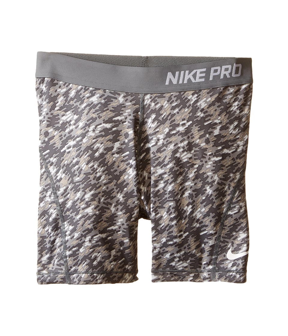 Nike Kids - Pro 3 Cool Printed 2 Training Short (Little Kids/Big Kids) (Wolf Grey/Cool Grey/White) Girl's Shorts